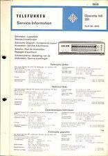 Telefunken Service Manual für Operette hifi 201
