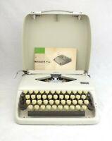 Vintage 1970s Typewriter Adler Tippa S Portable Working Hard Case Manual Holland