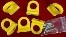 Vintage CON&CON 6x Schubladengriffe Gelb Möbelgriffe Schrankgriffe Retro 70er 80