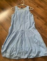 Gap Dress Womens Size Small S Blue Stripe Summer