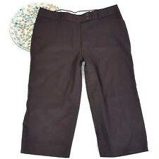 George Womens Pants Size 12 Brown London Fit Capri Low Waist Straight Hip Thigh