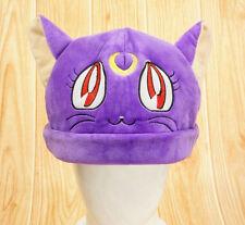 New! Anime Sailor Moon Purple Cat Luna Cartoon Hat Cap Beanie Costumes Cosplay