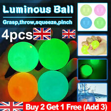 Luminous Sticky Wall Balls Ceiling Stress Relief Globbles Squishy Toys UK