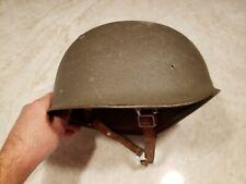 Wwii Swiss Army Military Paratrooper Helmet W Leather Lining