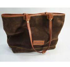 Dooney & Bourke brown suede tote bag purse