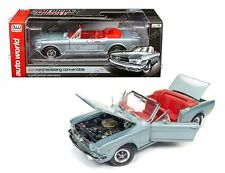AUTO WORLD 1:18 AMERICAN MUSCLE 1965 FORD MUSTANG CONVERTIBLE DIE-CAST AMM1103