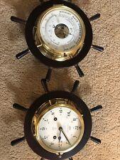 Schatz Nautical Ship Bell Brass Wall Clock and Barometer Working