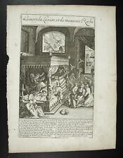 the death of Lazarus and Bad riche Jesus Christ c1650 M NATALIS deth