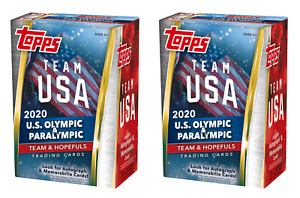 Lot of (2) 2020 Topps Team USA Olympic & Paralympic Blaster Box Factory Sealed