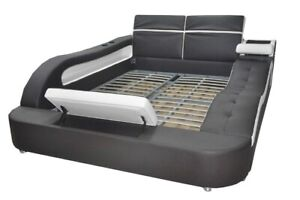 Double Design Leather Bed Pads Beds Modern Multifunction 160x200 CM Immediate