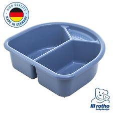 Rotho Baby TOP Baby Waschschüssel zweiteilig mit Seifenablage cool blue