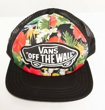 78b3a6546dfbd Vans Off The Wall Logo Trucker Cap Snapback Floral Hawaii Mesh Baseball Hat  NEW