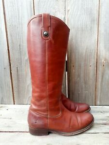 Frye 77167 MELISSA Whiskey Brown Pull Up Ridding Boots Women's sz 7.5 B