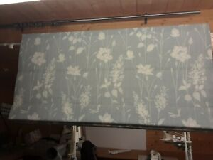 Roman Blind, Laura Ashley Dragonfly Garden Chalk Blue Fabric (Made to measure)