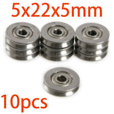 10x HCS V625ZZ V Groove Wire Guide Pulley Rail Ball Bearings Wheel 5x22x5mm