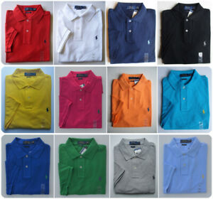 Men Polo Ralph Lauren The Iconic Mesh Polo Shirt CUSTOM SLIM FIT - S M L XL XXL