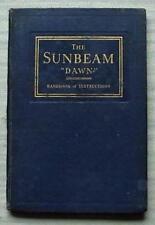 SUNBEAM Dawn voiture Instructions Manuel déc 1933 #434 Première édition