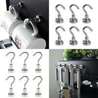 6Pcs Magnetic Hook Hooks Heavy Duty Hanger Hanging Pothook For Refrigerator New