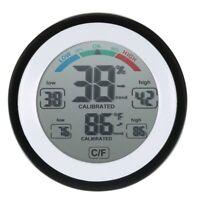 Numerique LCD Affichage Thermometre Interieur Hygrometre Rond Sans Fil elec R1P8