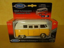WELLY 1/24 / 1962 VOLKSWAGEN CLASSICAL BUS YELLOW/WHITE