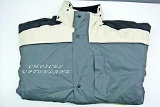 WORKSAFE WATERPROOF WORKWEAR JACKET WITH 6 POCKETS & CONCEALED HOOD(SIZE-LARGE)