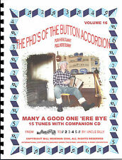 """BUTTON ACCORDION,""""MANY A GOOD ONE 'ERE BYE"""" WITH CD, PLAY BY NUMBERS"""