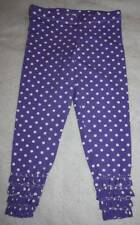 NEW Boutique Georgia Grace Grape Purple Dot Capri Ruffle Leggings 5 6