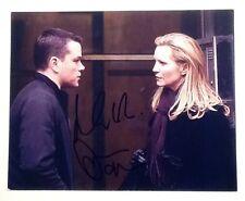 "matt damon joan allen signed autograph ""bourne ultimatum"" 8x10 COA"