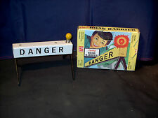 Tin toy Flashing Road Barrier