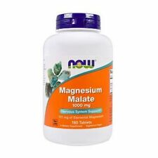 Magnesium Malate, 1000mg X 180Tablets, Now Foods, 24Hr Dispatch, UK Stocks
