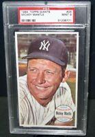 1964 Topps Giants MICKEY MANTLE Baseball Card #25 PSA 9 Mint New York Yankees