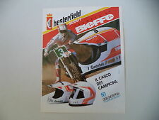 advertising Pubblicità 1991 CASCO BIEFFE HELMETS MX CROSS CHESTERFIELD SCOUT