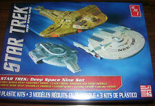 STAR TREK DEEP SPACE 9, 3 PK DEFIANT, SARATOGA & CARDASSION GALOR CRUISER 1/2500