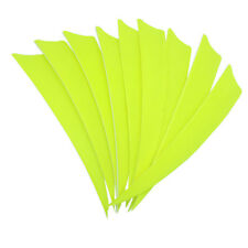 """Archery Fletches 5"""" Shield Cut Fluorescent yellow Traditional Feather RW - 50PCS"""