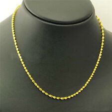 Classic Gold Filled Twisted Necklace Stylish Rope Chain Link Jewelry Gift