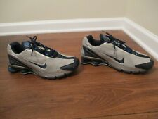 Classic 2006 Used Worn Size 10.5 Nike Shox Turbo IV Shoes Silver Obsidian Blue