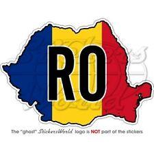 RUMÄNIEN Karte-Flagge, Rumänische Landkarte-Fahne Auto Aufkleber, Vinyl Sticker