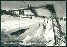 Torino Locana Canavese Seggiovia Nevicata Foto FG cartolina ZK2505