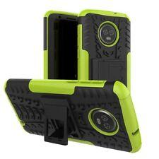 pour Motorola Moto G6 Plus Etui Hybride 2 Pièces Extérieur Vert