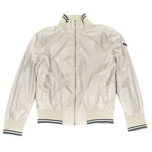 RRP €275 TRU TRUSSARDI Bomber Jacket Size 46 / S Striped Trim Stand-Up Collar