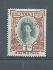 Tonga 1922 1/- sg.63b upright watermark MH