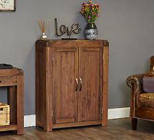 Shiro solid walnut dark wood hallway furniture shoe storage cabinet cupboard
