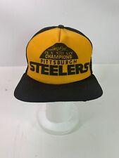 vtG 80s Pittsburgh Steelers NFL New Era USA Mesh Snapback Trucker Hat Cap