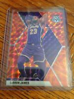 2019-20 Panini Mosaic Lebron James Reactive Orange Refractor Prizm #8. Lakers