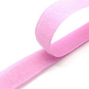 1 Pair 20mm Colorful Fastener Tape Velcros Hook And Loop Tape Cable Ties Sewing