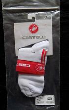 Mens White//Red, XXL Castelli Logo 3 Socks