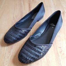 1fc7c9012cd Clarks Pumps UK Size 5.5 D Black Sequin Flats Smart Evening Wear Bohemiam  Xmas