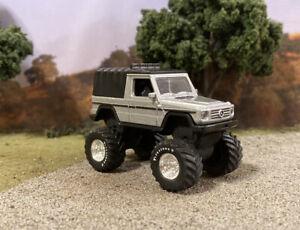 1991 Mercedes-Benz Lifted 4x4 Custom 1/64 Diecast 4WD Truck Off Road Hot Wheels