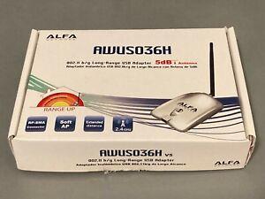 Alfa AWUS036H 1W 802.11b/g USB Wireless WiFi Network Adapter with 5dBi Antenna