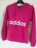 Ladies Neon Pink Adidas Hoodie UK Size 4-6 / XS extra small